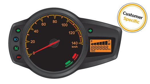 Electronic Instrument Cluster for 2-Wheelers < 150cc