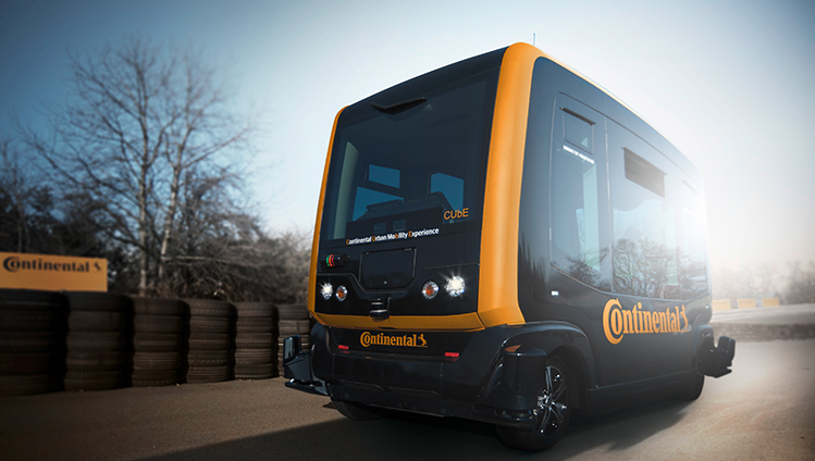 Continental advances the demo vehicle CUbE the development of technologies for driverless vehicle